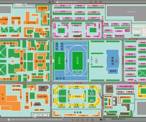 高校导航:北京科技大学校园平面图
